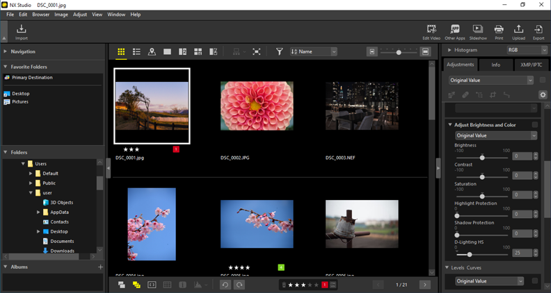 Nikon releases NX Studio, a new software that enables the seamless viewing and editing of still images and video