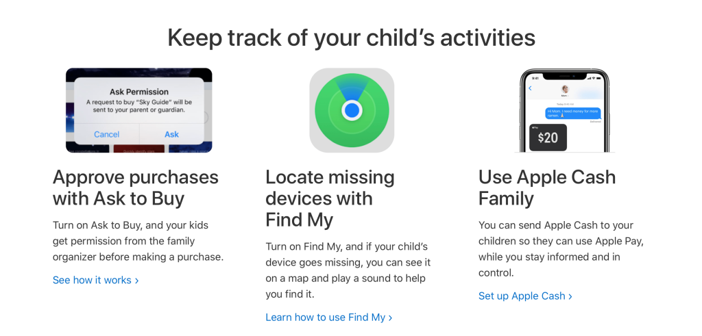 Keep track of your child's activities